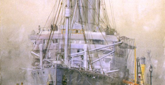 The liner 'Carmania' fitted as an armed merchant cruiser NMM: PAF2108
